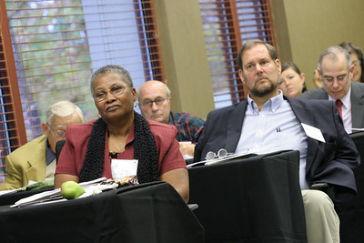 "Delena Stephens-Bowen of Jacksonville, Fla., foreground left, attends a workshop entitled ""The Bible and the Death Penalty: What Scripture Says."" Her son has been on death row for 12 years at the Union Correctional Institution, Raiford, Fla."