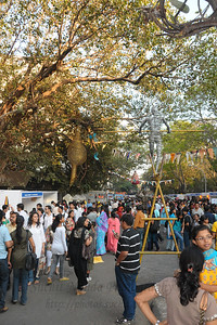 Crowds at the Kala Ghoda Arts Festival held for nine days annually in February at Kala Ghoda, Mumbai. This year it was held from 7th February to 15th February 2009.