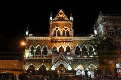 David Sassoon Library lit up for the Kala Ghoda Arts Festival held for nine days annually in February at Kala Ghoda, Mumbai. This year it was held from 7th February to 15th February 2009.