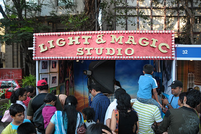 The Light & Magic studio was very popular and a crowd puller. The Kala Ghoda Arts Festival held for nine days annually in February at Kala Ghoda, Mumbai. This year it was held from 7th February to 15th February 2009.