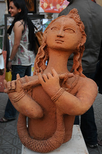 Various art pieces on display. The Kala Ghoda Arts Festival held for nine days annually in February at Kala Ghoda, Mumbai. This year it was held from 7th February to 15th February 2009.