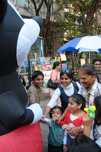 Mickey mouse was a hit with the kinds. The Kala Ghoda Arts Festival held for nine days annually in February at Kala Ghoda, Mumbai. This year it was held from 7th February to 15th February 2009.