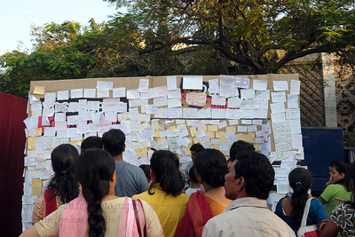 Message wall at the Kala Ghoda Arts Festival held for nine days annually in February at Kala Ghoda, Mumbai. This year it was held from 7th February to 15th February 2009.