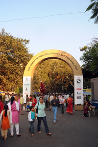 Entrance to the The Kala Ghoda Arts Festival held for nine days annually in February at Kala Ghoda, Mumbai. This year it was held from 7th February to 15th February 2009.
