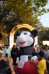 A big hit was Mickey Mouse at the Kala Ghoda Arts Festival held for nine days annually in February at Kala Ghoda, Mumbai. This year it was held from 7th February to 15th February 2009.
