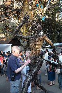 Works of art were a big draw at the Kala Ghoda Arts Festival held for nine days annually in February at Kala Ghoda, Mumbai. This year it was held from 7th February to 15th February 2009.