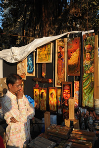 Pots, paintings and other items of sale at the Kala Ghoda Arts Festival held for nine days annually in February at Kala Ghoda, Mumbai. This year it was held from 7th February to 15th February 2009.