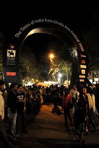 The Times of India Kala Ghoda Arts Festival 2008 held annually in February at Kala Ghoda, Mumbai, MH, India.