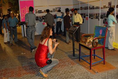 Various props and displays at Kala Ghoda Arts Festival, Feb 2007