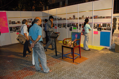 Various props and displays at Kala Ghoda Arts Festival, Feb 2007