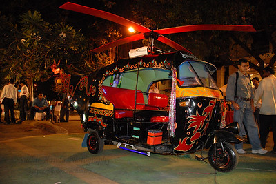 Colourful autorickshaw Various props and displays at Kala Ghoda Arts Festival, Feb 2007
