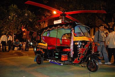 Colourful autorickshaw Various props and displays at Kala Ghoda Arts Festival, Feb 2007