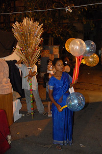 Street vendors at Kala Ghoda Arts Festival, Feb 2007