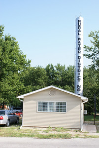 Temporary Post Office building and water tower
