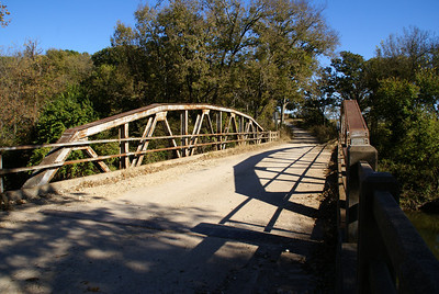 Pony truss bridge over Grouse Creek - northeast Cowley County