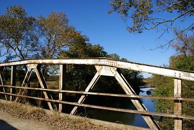 Pony truss bridge over Grouse Creek - northeast Cowley County