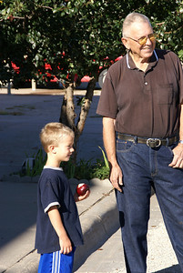 Charlie Minium and his grandson