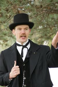 Historic performer Nolan Sump portraying Kansas Governor Nehemiah Green