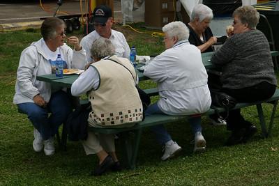 Visitors enjoying food at the festival.