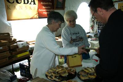 Ladies from Cuba selling Czech kolache pastries