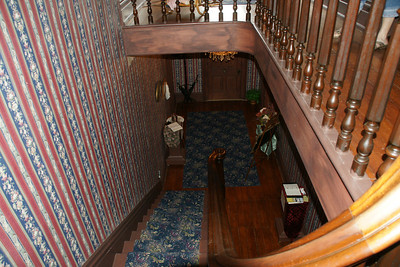 Elegant staircase in Clark-Robidoux House