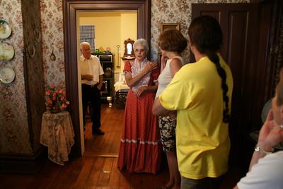 Our hostess giving a tour of Clark-Robidoux House