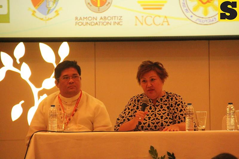Fr. Rentoria and Dr. Ma. Serena Diokno