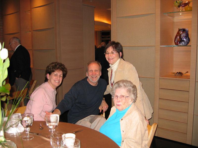 Kathy & Gary Marks, Judy Lusky, Frances Kaplan