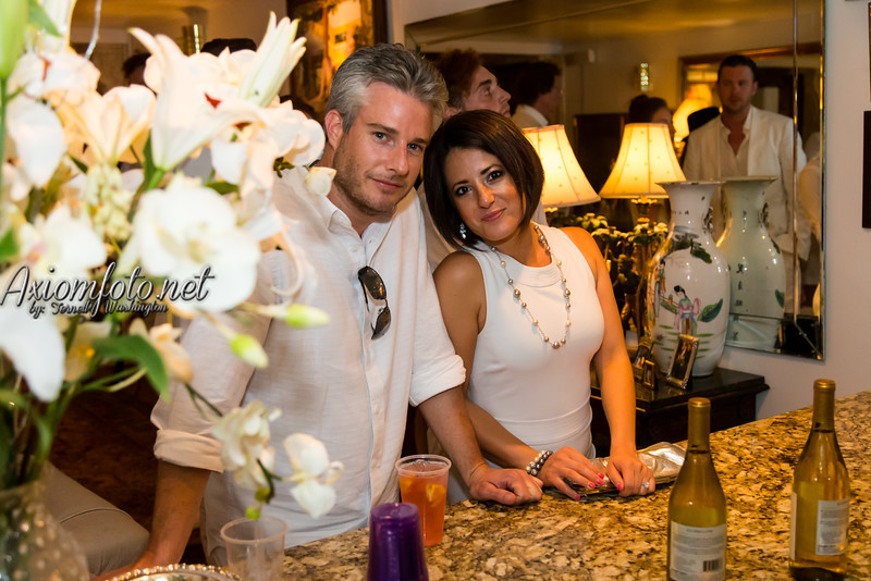 Karlos and Geeda. J White Party
