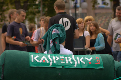 Kaspersky 2010 Guerilla Promo on Kreschatik