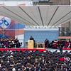 Samantha Powers, UN Ambassador, gives the commencement speech.