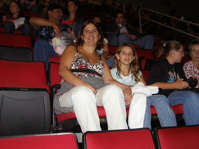 Katie's first concert.  Hannah Montana in Fresno