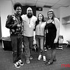 (LtoR) Mike E. Winfield, Butch Escobar, Luz Pazos, Rachel Warner