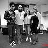 (LtoR) Mike E. Winfield, Butch Escobar, Luz Pazos, Rachel Warner