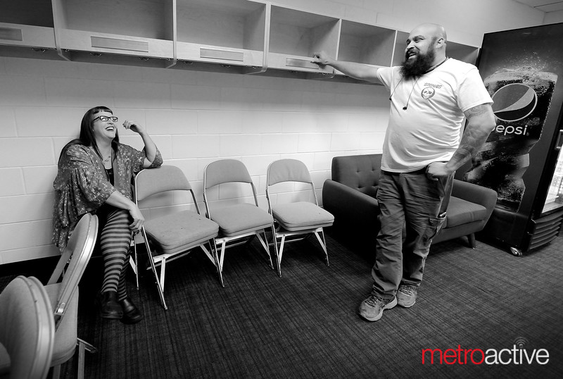 Comedians Rachel Warner and Butch Escobar