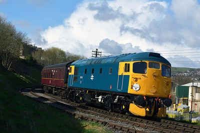 Class 26 No 26038 at Keighley on 26 April 2013 with the 09:00 Oxenhope - Keighley