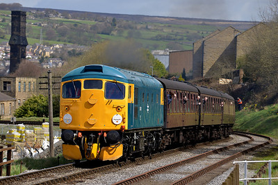 Class 26 No 26038 at Keighley on 26 April 2013 with the 12:55 Keighley - Oxenhope