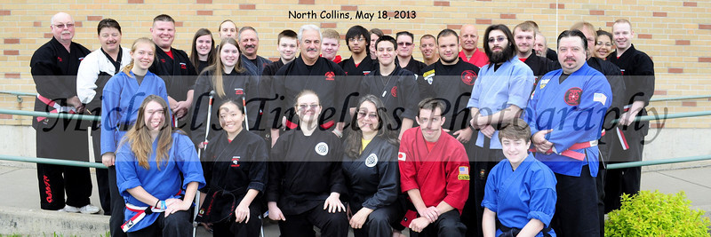 WNY Kempo Karate Black Belts - Grand Master Galati's Tournament, North Collins High School, May 18, 2013 - (12 x 36 - with date)