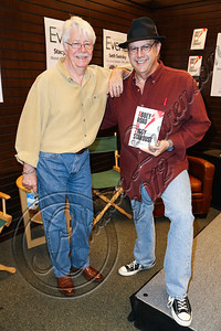 "LOS ANGELES, CA - OCTOBER 10:  Producer Ken Scott (L) and DJ ""Uncle"" Joe Benson pose at Barnes & Noble bookstore at The Grove on October 10, 2012 in Los Angeles, California.  (Photo by Chelsea Lauren/WireImage)"