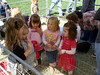 Kendall with friends in the petting zoo.