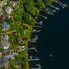 Aerial Waterfront Homes
