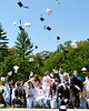 Graduating seniors of Kennett High School, in North Conway, NH, celebrate at the conclusion of graduation ceremonies with the traditional tossing of mortarboards into the air, at Gary Millen Stadium, on Saturday, June 19th, 2010.