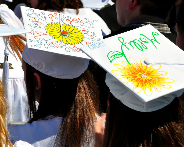 Many Kennett High School seniors personalized their motarboards for commencement exercises, which were held in Gary Millen Stadium, on Saturday, June 19th, 2010, at the school's Redstone campus.