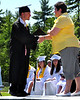 Seth Sargent receives his diploma from Janine McLauchlan, during graduation ceremonies at Kennett High School, in North Conway, NH, on Saturday, June 19th, 2010.