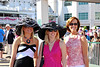 Jennifer, Jenny, and Audrey as we arrive at the Kentucky Oaks 136 in Louisville, KY