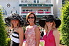 The Girls:  Jennifer, Audrey and Jenny in the Paddock area at the Kentucky Oaks