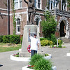 Court House in the town square in Liberty Kentucky.<br /> <br /> My son Justin in the foreground.