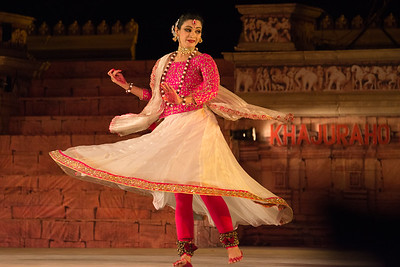 Yasmin Singh, is an accomplished Kathak dancer championing Raigarh Gharana. 'Lucknow Gharana' is the other style of Kathak, in which she has a special interest. She believes in harmonization of different genres of Kathak. She is triple M.A in History, Social Work and Kathak. She also has MPhil Degree in History. She has a Bachelor Degree of Education.Presently she is working as a Director with Government of Chhattisgarh (Swachh Bharat Mission).  Khajuraho Dance Festival 21st Feb'17. Colorful and brilliant classical dance forms of India with roots in the rich cultural traditions offer a feast for the eyes during a weeklong extravaganza. Khajuraho Temples in Madhya Pradesh are popular for their architectural wonders and sculptures.