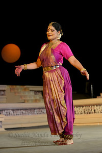 """Geeta Chandran Founder, President, NATYA VRIKSHA, New Delhi.  Khajuraho Festival of Dances is celebrated at a time when the hardness of winter begins to fade and the king of all seasons, spring, takes over. The most colorful and brilliant classical dance forms of india with their roots in the ling and rich cultural traditions across the country, offer a feast for the eyes during a weeklong extravaganza.  Khajuraho is located in the Indian state of Madhya Pradesh and roughly 620 kilometers (385 miles) southeast of New Delhi, the temples of Khajuraho are famous for their so-called """"erotic sculptures"""". Khajuraho was the cultural capital of the Chandela Rajputs, a Hindu dynasty that ruled from the 10th to 12th centuries."""