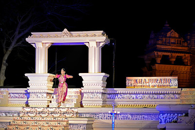 "Bharatnatyam dancer Geeta Chandran Founder, President, NATYA VRIKSHA, New Delhi at the Khajuraho Festival of Dances with the beautiful Khajuraho Temples in the background.  This festival is celebrated at a time when the hardness of winter begins to fade and the king of all seasons, spring, takes over. The most colorful and brilliant classical dance forms of india with their roots in the ling and rich cultural traditions across the country, offer a feast for the eyes during a weeklong extravaganza.  Khajuraho is located in the Indian state of Madhya Pradesh and roughly 620 kilometers (385 miles) southeast of New Delhi, the temples of Khajuraho are famous for their so-called ""erotic sculptures"". Khajuraho was the cultural capital of the Chandela Rajputs, a Hindu dynasty that ruled from the 10th to 12th centuries."